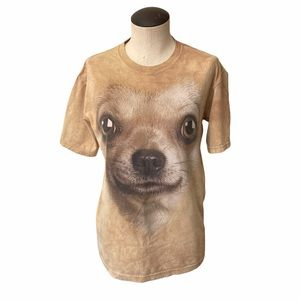 The Mountain Chihuahua Face Tie-Dye Graphic Tee